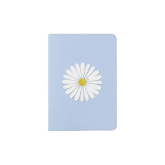 Daisy Flowers, Petals, Blossoms - White Yellow Passport Holder