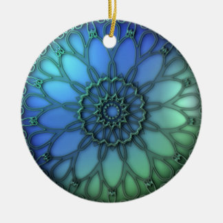 Daisy Fractal Christmas Ornament