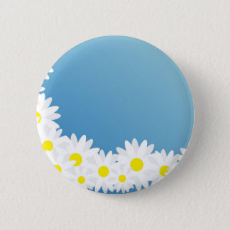 Daisy Frame 6 Cm Round Badge