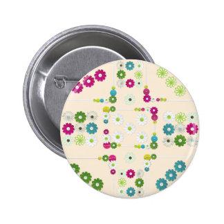 Daisy Garden 6 Cm Round Badge