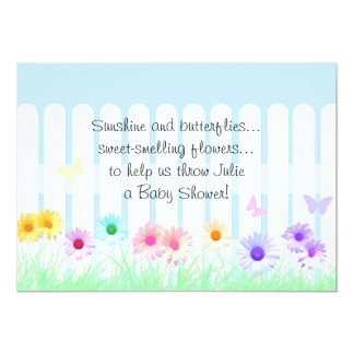 Daisy Garden Baby Shower Invitations