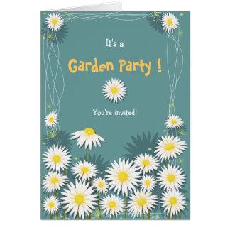Daisy Garden Birthday Party Invitation 2 Greeting Card