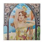 Daisy Goddess Ceramic Tile