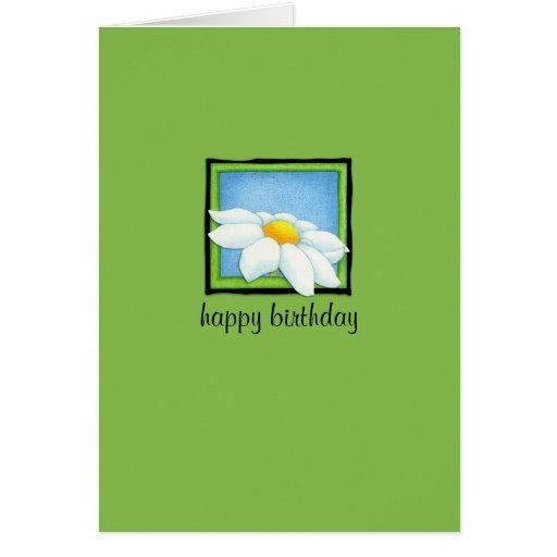 Daisy green Birthday Card