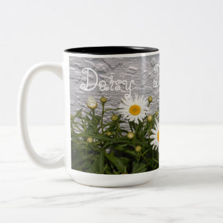 Daisy  Happy Daisies Mug-White Two-Tone Coffee Mug