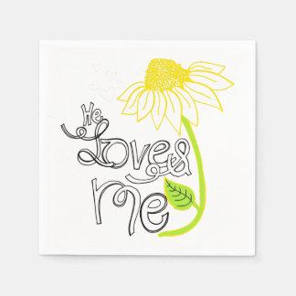Daisy He Loves Me Wedding Paper Napkins