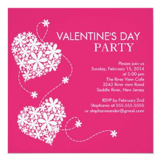 Daisy Hearts Valentines's Day Party Invitations