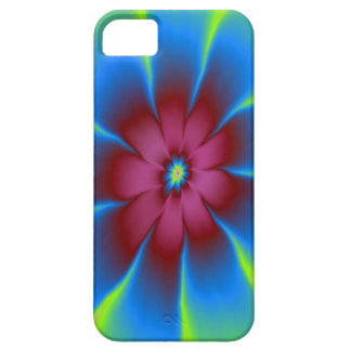 Daisy in Burgundy and Blue  iPhone 5 Case