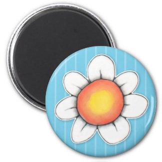 Daisy Joy blue Round Magnet