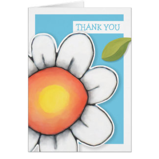 Daisy Joy blue Thank You Note Card