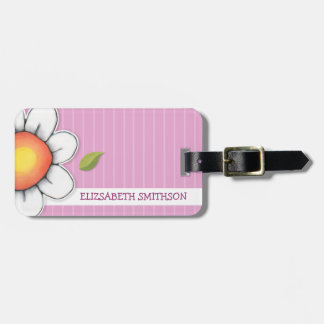 Daisy Joy pink Luggage Tag