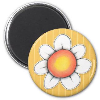 Daisy Joy yellow Round Magnet