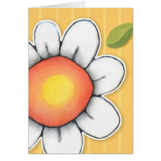 Daisy Joy yellow stripes Note Card