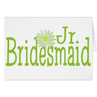 Daisy Jr. Bridesmaid Greeting Card