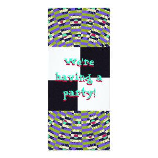 Daisy Kaleidoscope 10 Cm X 24 Cm Invitation Card