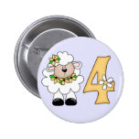 Daisy Lamb 4th Birthday Pinback Buttons