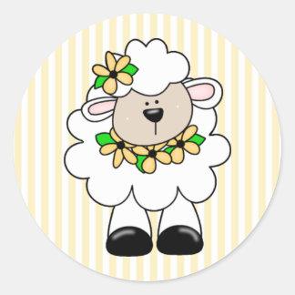 Daisy Lamb Classic Round Sticker
