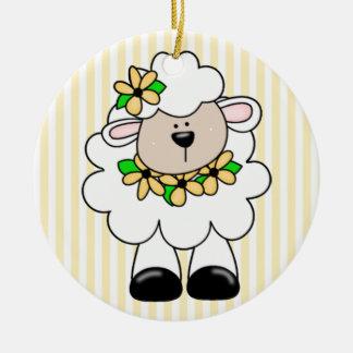 Daisy Lamb Round Ceramic Decoration