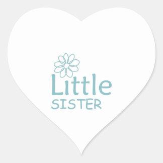 DAISY LITTLE SISTER HEART STICKER
