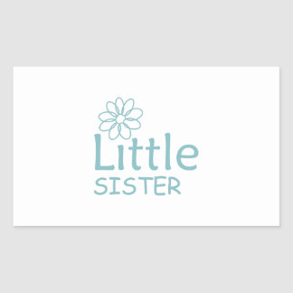 DAISY LITTLE SISTER RECTANGLE STICKER