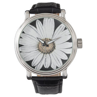 Daisy Mae Vintage Leather Strap Black Watch