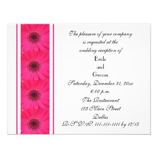 Daisy Marriage Reception Only Wedding Invitation Invite