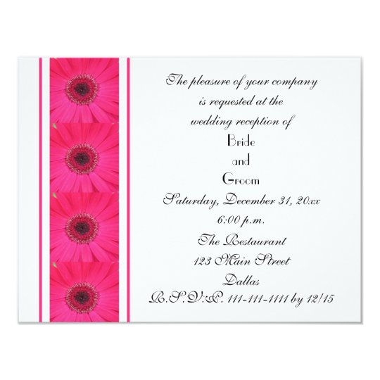 Daisy Marriage Reception Only Wedding Invitation