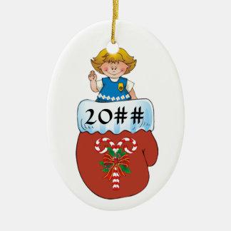 Daisy Mitten Blonde Christmas Ornament