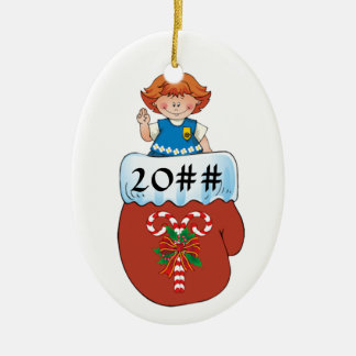 Daisy Mitten Redhead Christmas Ornament