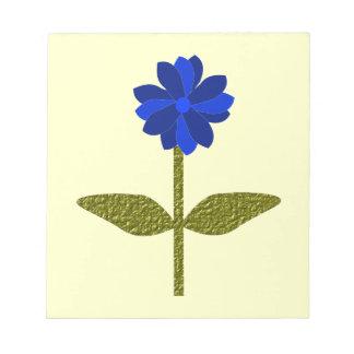 Daisy Ocean Blue Notepad