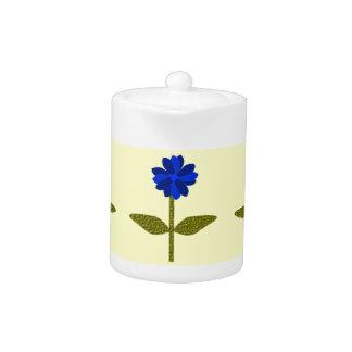 Daisy Ocean Blue Teapot