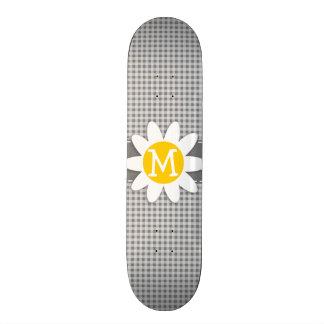 Daisy on Gray Gingham Skateboard Decks