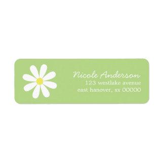 Daisy on Green Return Address Label