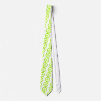 Daisy on green neck tie