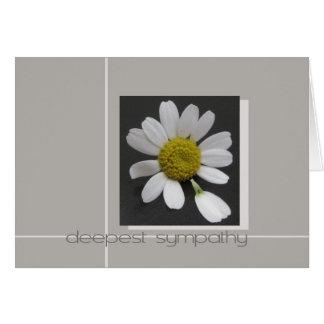 daisy on grey sypathy card
