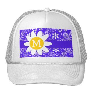 Daisy on Han Purple Paisley Cap