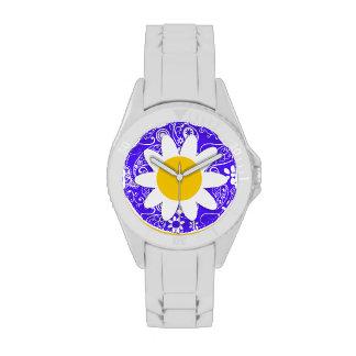 Daisy on Han Purple Paisley Wristwatches