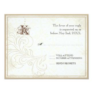 Daisy, Pansy, Rose n Butterfly - Wedding RSVP Card 11 Cm X 14 Cm Invitation Card