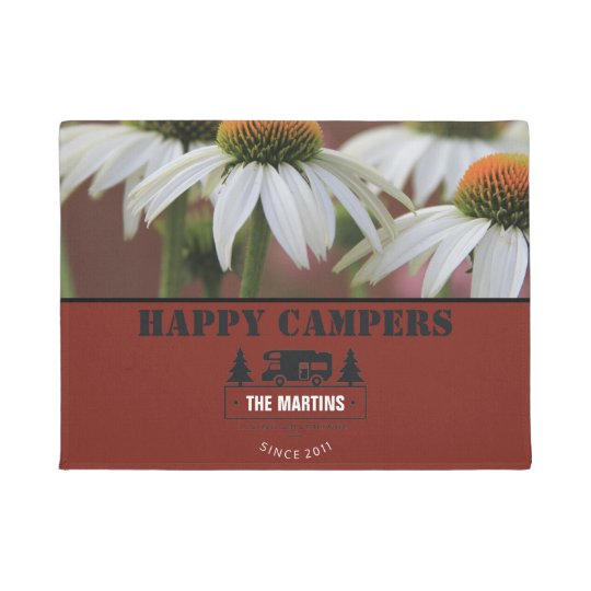 Daisy Personalised | Camping RV Happy Campers Doormat