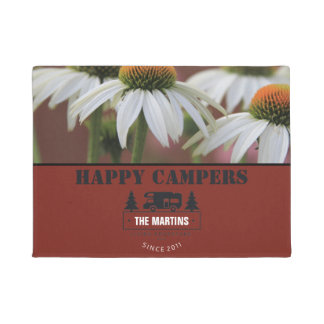 Daisy Personalized | Camping RV Happy Campers Doormat