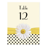 Daisy Polka Dot Special Occasion Table Card Post Card