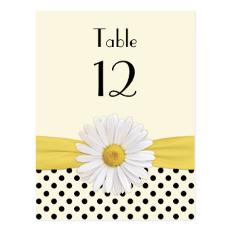Daisy Polka Dot Special Occasion Table Card Postcard