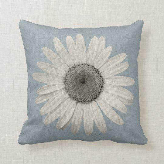 Daisy Pop of Colour Blue Grey Cushion