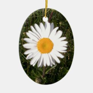 Daisy Print Christmas Ornament