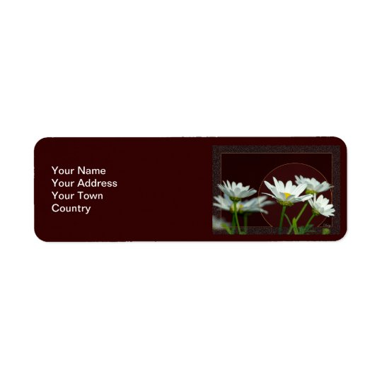 Daisy Return Address Label