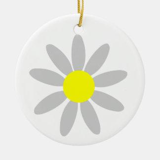 Daisy Round Ceramic Decoration