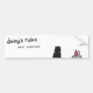 Daisy Rules Bumber Sticker 'Sunscreen'