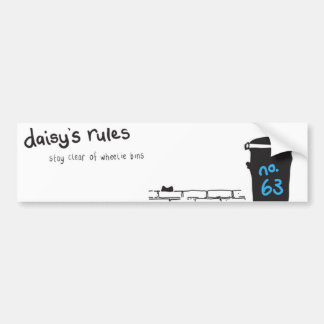 Daisy Rules Bumber Sticker 'Wheelie Bin'