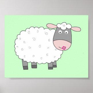 Daisy Sheep Poster