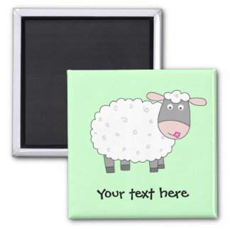 Daisy Sheep Square Magnet